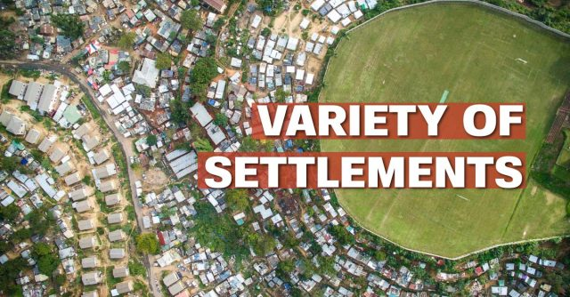 Variety of settlements
