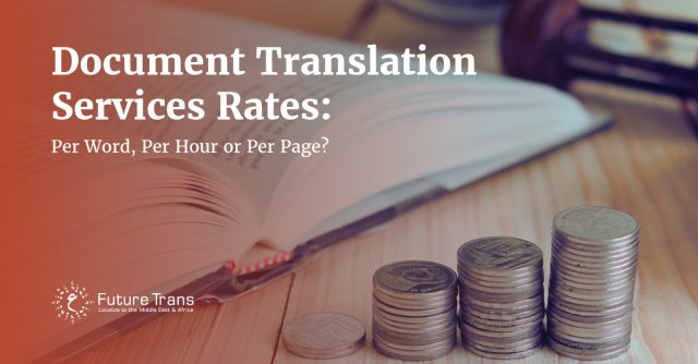 Document Translation Services Rates